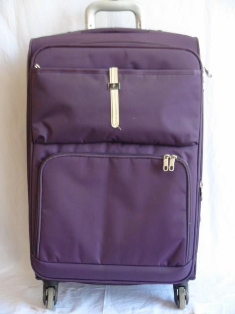 Чемодан средний, фиолетовый, 4 колеса, 68* 41*27, увелич.+4 см., ткань