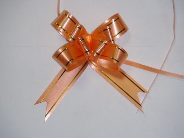 Бант-бабочка оранжевый, 1,8 см. * 37 см, D=8 см., (цена за 10 штук)