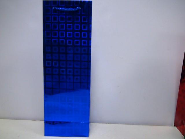 Сумка голография синий 35*12*8,5 см.
