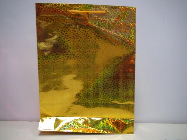 Сумка голография желтый 38,5*29*8,5 см.
