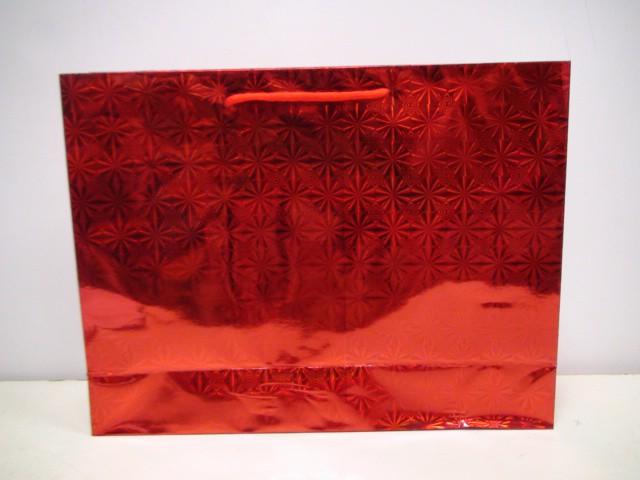 Сумка голография красный 35*27*10 см.
