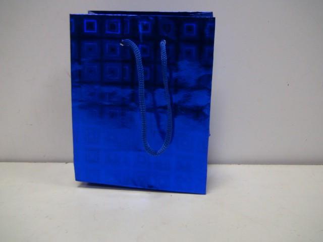 Сумка голография синяя 14,5*11,5*6,5 см.