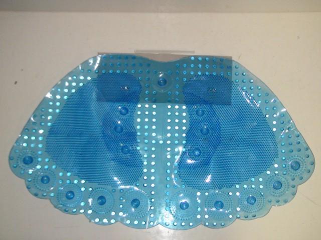 Коврик в ванную ПВХ  61*35 см. голубой