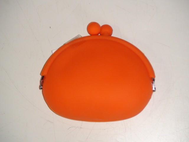 Кошелек силиконовый, оранжевый  12*11*5 см.