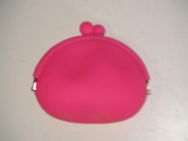 Кошелек силиконовый, розовый  12*11*5 см.