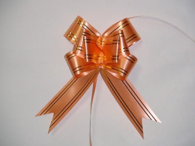 Бант-бабочка оранжевый, 3,1*48 см,  D=10 см (10 шт)