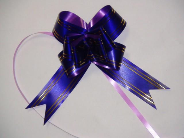 Бант-бабочка фиолетовый, 3,1*48 см,  D=10 см (10 шт)
