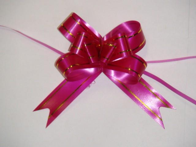 Бант-бабочка малиновый, 1,8 см. * 37 см, D=8 см., (цена за 10 штук)