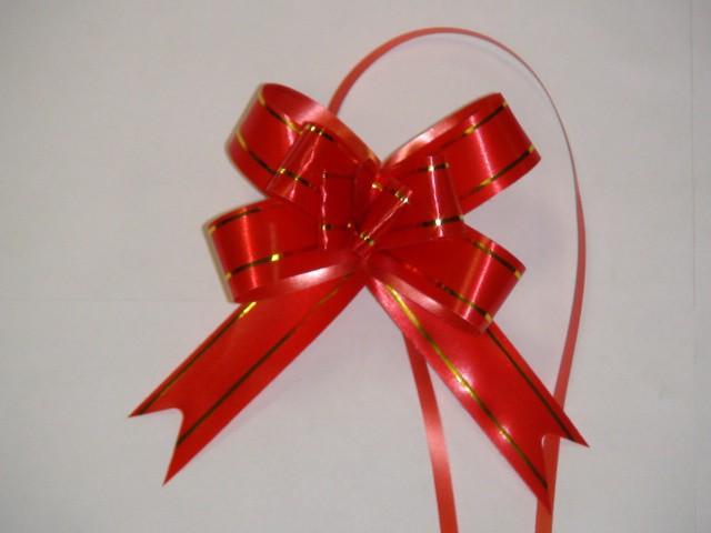 Бант-бабочка красный, 1,8 см. * 37 см, D=8 см., (цена за 10 штук)