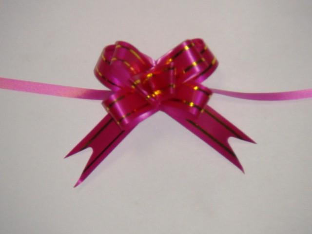 Бант-бабочка малиновый, 1,2 см. * 21,5 см, D=5 см., (цена за 10 штук)