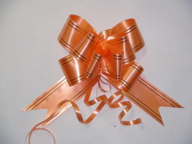 Бант-бабочка оранжевый, 5 см. * 75 см, D=17 см., (цена за 10 штук)