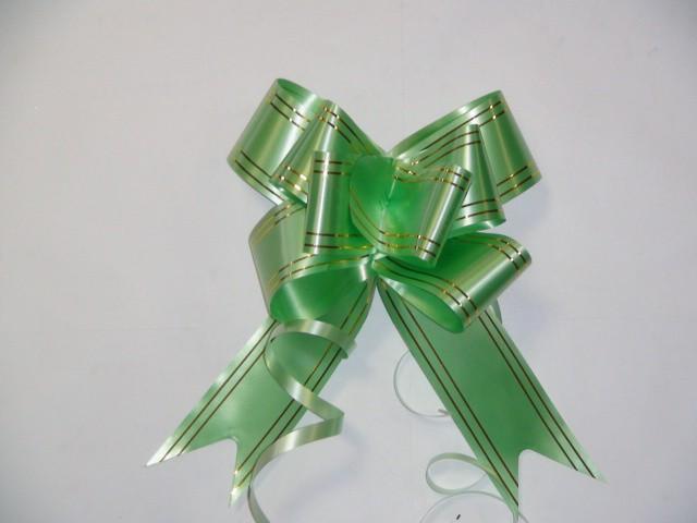Бант-бабочка зеленый, 5 см. * 75 см. D=17 см., (цена за 10 штук)