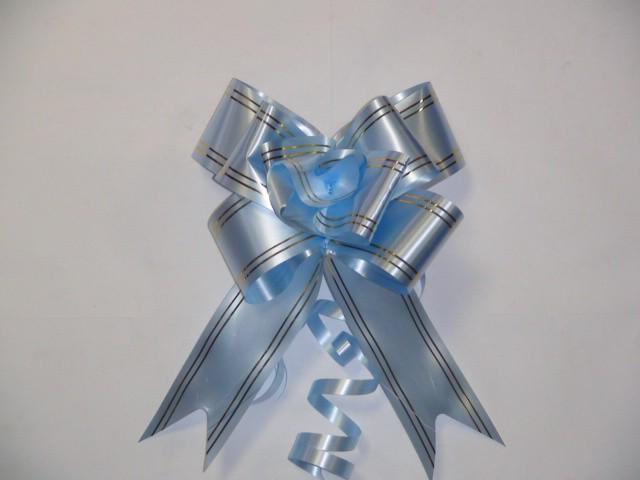 Бант-бабочка голубой, 5 см. * 75 см,D=17 см., (цена за 10 штук)