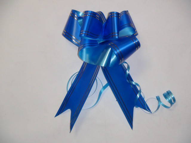 Бант-бабочка синий, 5 см. * 75 см, D=17 см., (цена за 10 штук)