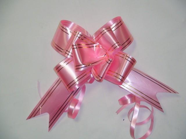 Бант-бабочка розовый, 5 см. * 75 см, D=17 см., (цена за 10 штук)