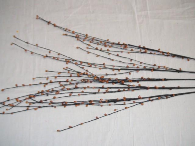 Трава декоративная 100 см., коричневая, (цена за 5 штук)
