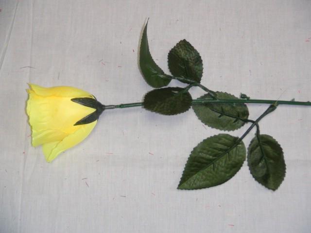 Роза 45 см., D=4,5 см., желтая