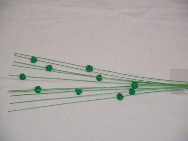 Трава декоративная 83 см., зеленая, бамбук  (цена за 10 штук)