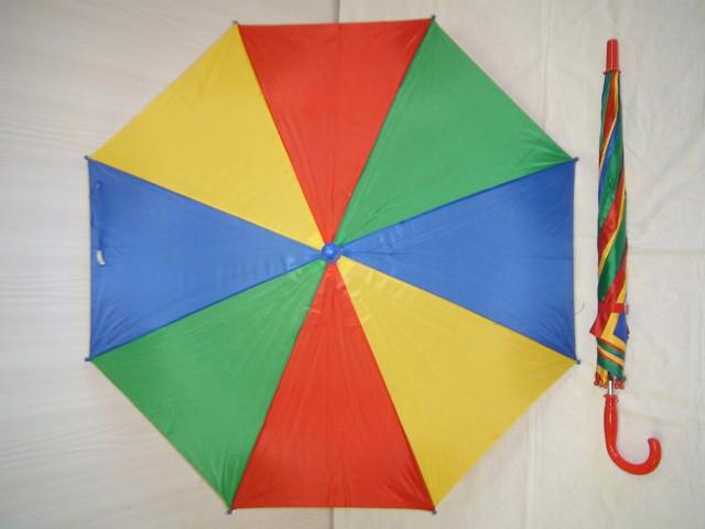 Зонт детский, п/автомат, 8 спиц, с красной ручкой