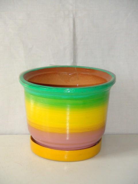 Горшок д/цветов керамический 10 см., D=13 см.