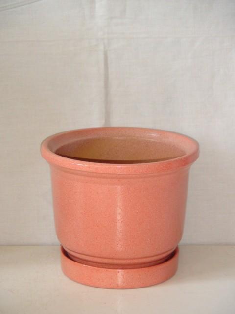 Горшок д/цветов керамический, розовый, 0,9 л.