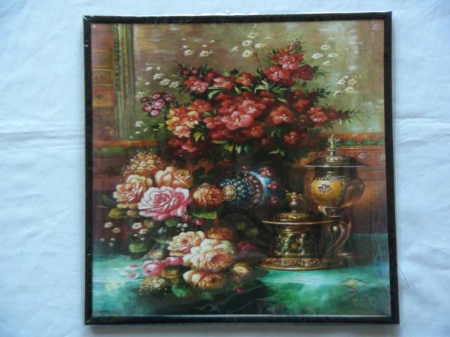 """Панно """"Натюрморт с розами"""" 28*28 см."""