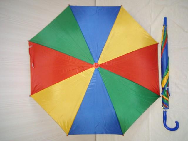 Зонт детский, п/автомат, 8 спиц, с синей ручкой