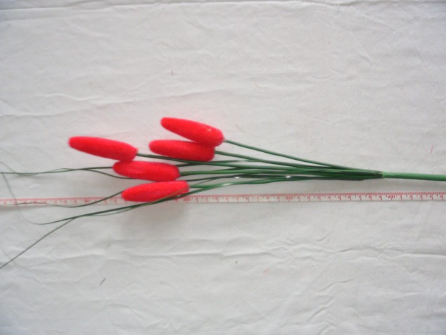 Камыш 5 голов, 58 см, D=6*1,5 см., розовый, 1 штука.