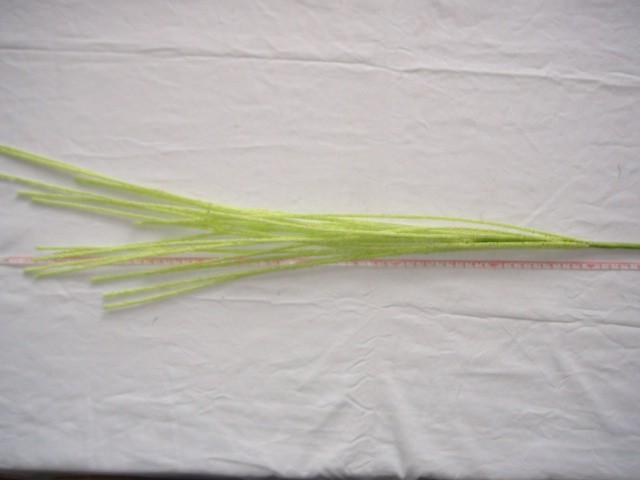 Трава декоративная 110 см., шарики пенопласт, зеленая, 1 штука.