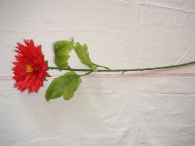 Гербера, 58 см., D=12 см., красная
