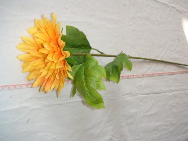 Гербера, 58 см., D=12 см., желтая