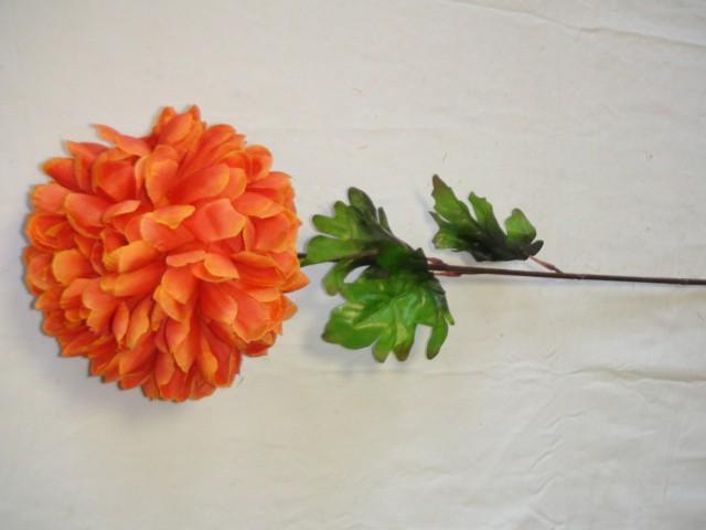 Хризантема 70 см., D=15 см., оранжевая