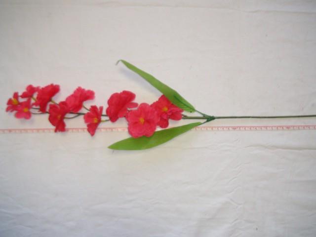 """Ветка """"Сакура"""" 10 цветков, 67 см., малиновая, 1 штука."""