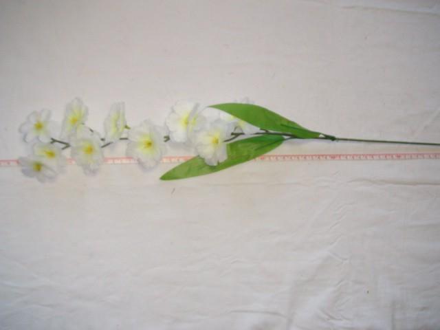 "Ветка ""Сакура"" 10 цветков, 67 см., белая, 1 штука."