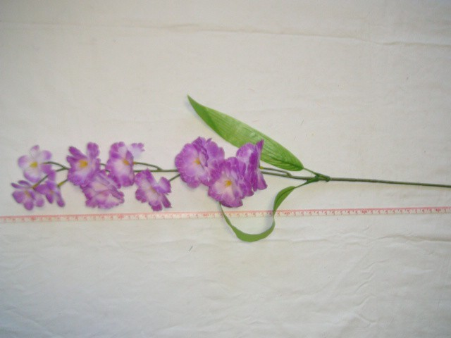 """Ветка """"Сакура"""" 10 цветков, 67 см., фиолетовая, 1 штука."""