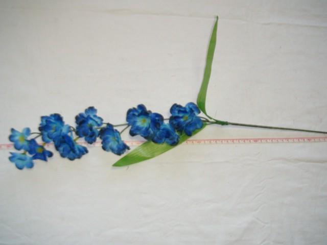 """Ветка """"Сакура"""" 10 цветков, 67 см., синяя, 1 штука."""