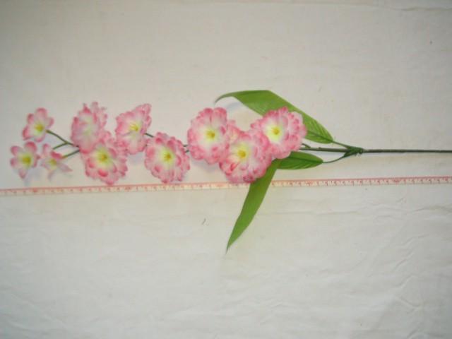 "Ветка ""Сакура"" 10 цветков, 67 см., розовая, 1 штука."