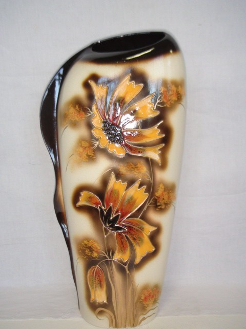"""Ваза """"Наяда"""" белая, керамика, 45 см."""