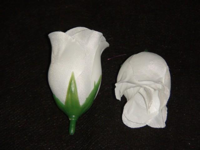 "Насадка ""Роза"" белая D=3*5 см., ткань"