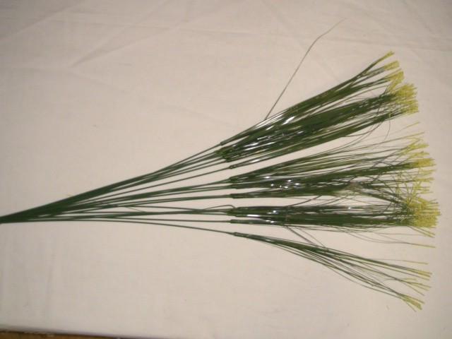 Осока декоративная с цветными кончиками 63 см., пвх, желтая, 1 штука (продается кратно 20 штукам)