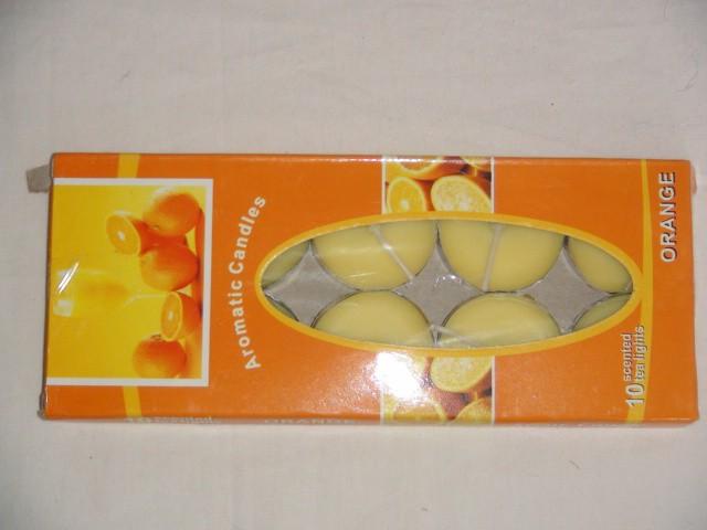 Свеча в гильзе ароматизированная апельсин (10 штук)