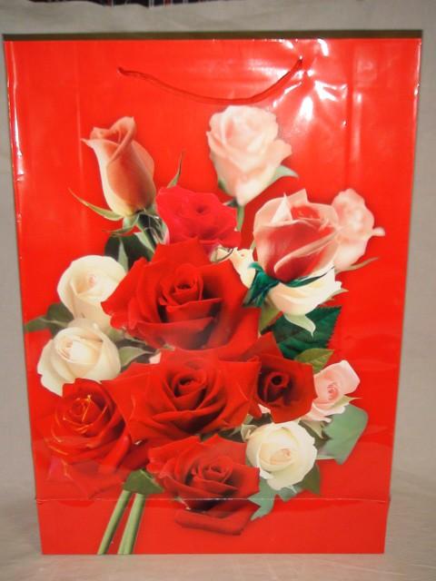 Пакет подарочный с ручками  54*38*10 см., бумага