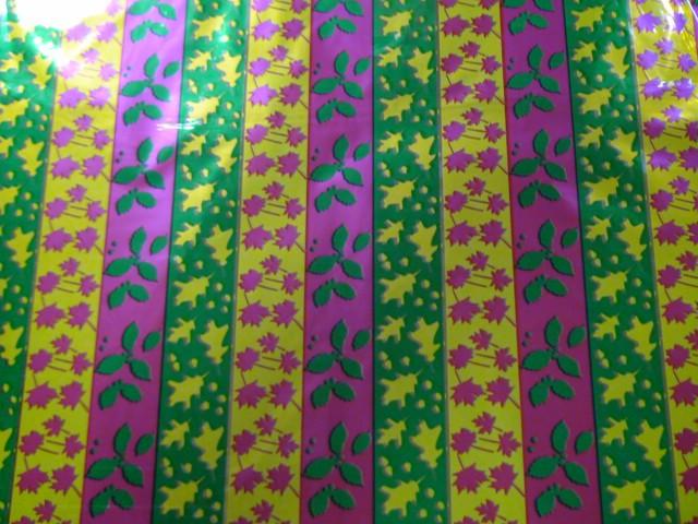 """Пленка упаковочная металлизированная """"Цветные листья"""" 100*70 см., пвх (ЦЕНА ЗА 50 ЛИСТОВ)"""