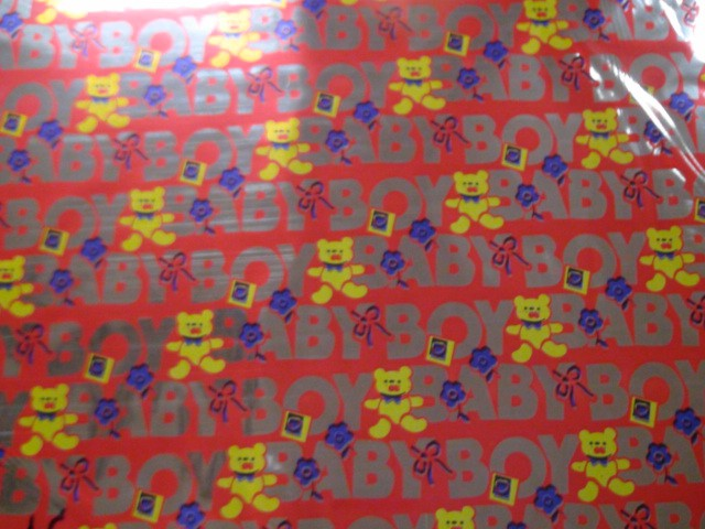 """Пленка упаковочная металлизированная """"Мишки"""" 100*70 см., пвх (ЦЕНА ЗА 50 ЛИСТОВ)"""