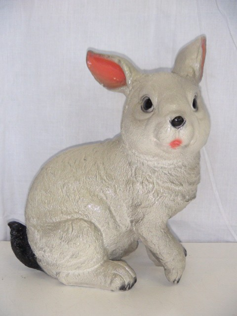 """Копилка """"Заяц маленький"""" гипс, 22 см."""