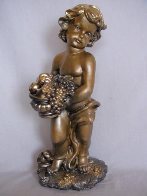 """Сувенир """"Мальчик с корзиной"""", 50 см, гипс."""