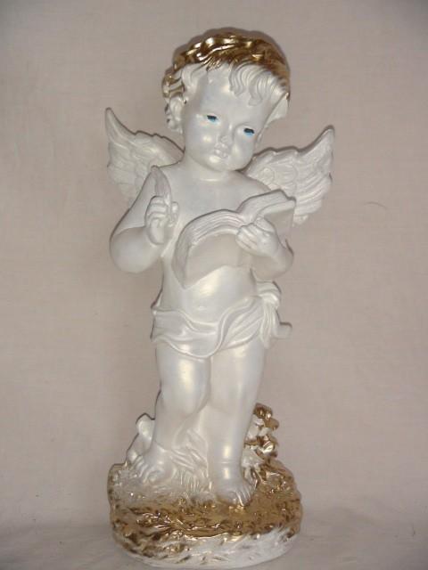 """Сувенир """"Ангел с книгой"""", 35 см, гипс."""