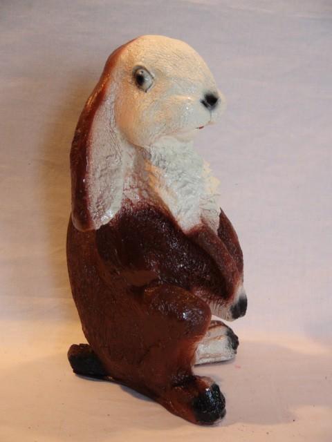 """Копилка """"Заяц малый"""" коричневый, 22 см."""