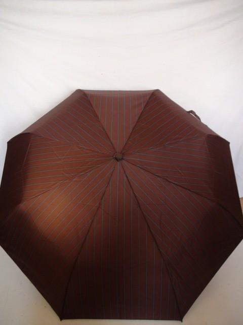 """Зонт мужской """"Полоски"""" полуавтомат, 8 спиц, коричневый"""