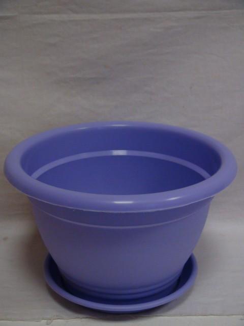 Горшок для цветов с поддоном фиолетовый 3,8 л., пластик